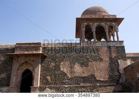 View Of Top Portion Of Royal Enclave At Mandu In Madhya Pradesh, India, Asia
