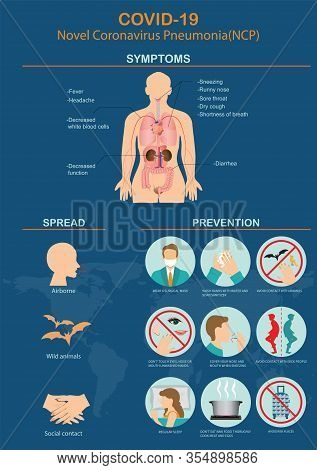 Novel Coronavirus 2019.covid-19 Virus 2019-ncov Disease Prevention Infographic With Icons And Text.p