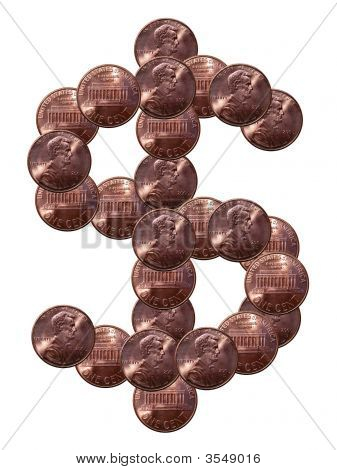 Pennies Dollar Sign