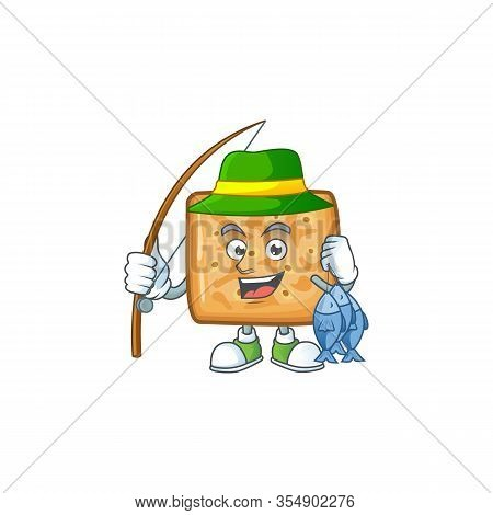 Cartoon Character Style Of Funny Fishing Crackers
