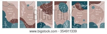 Abstract Template Of Social Media Stories In Coffee Palette