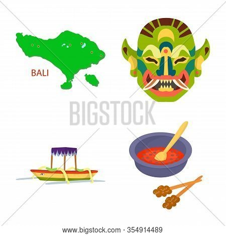 Vector Design Of Bali And Indonesia Logo. Set Of Bali And Caribbean Stock Symbol For Web.