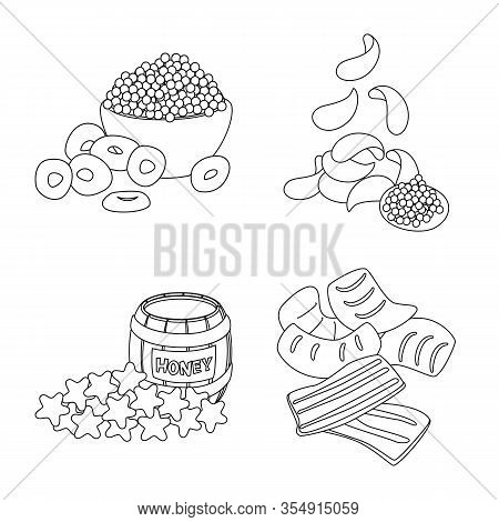 Vector Design Of Taste And Crunchy Logo. Collection Of Taste And Cooking Stock Vector Illustration.