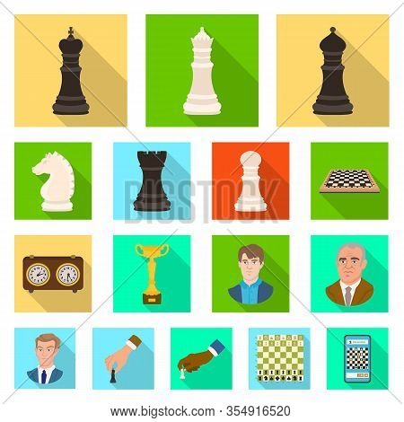 Isolated Object Of Checkmate And Thin Icon. Set Of Checkmate And Target Stock Symbol For Web.