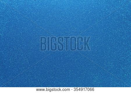 Shimmering Blue Background. Abstract Sparkle Cloth, Pattern. Brilliance Texture