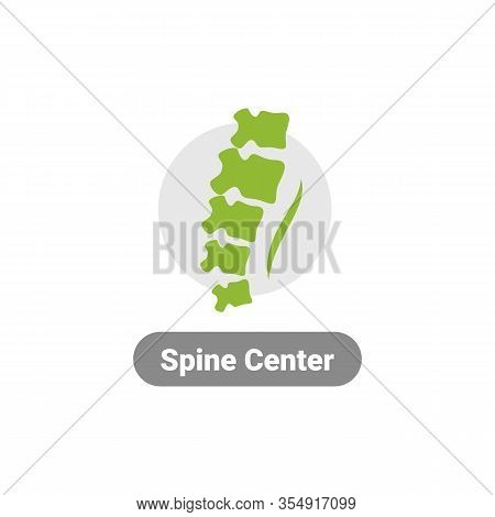 Human Spine Icon. Spine Logo Isolated. Vector