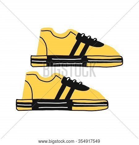 Sneakers Flat Icon. You Can Be Used Sneakers Icon For Several Purposes Like Websites, Ui, Ux, Print