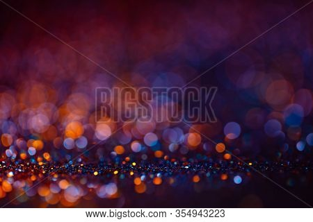 Decoration Bokeh Lights Background, Abstract Sparkle Backdrop With Circles, Modern Design Wallpaper