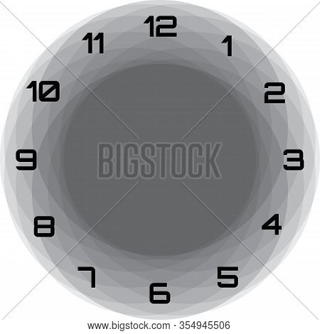 Clock Dial Black Big Black Numbers Gray Circle Game Frame Hourly Black And Gray On Transparent Backg