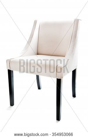 Ecru Bright Chair Isolated On White Background