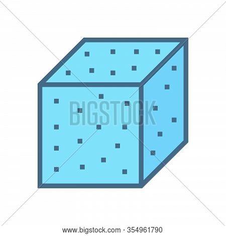 Concrete Specimen Cube Type Vector Icon Design.