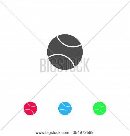 Baseball Icon Flat. Color Pictogram On White Background. Vector Illustration Symbol And Bonus Icons