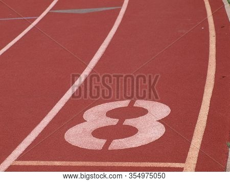 Number 8 Used In Several Sports Like Swimming, Track, Horse Racing,stock Car