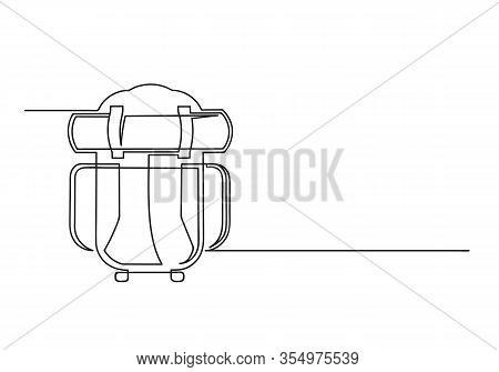 Continuous One Line Drawing Of A Backpack