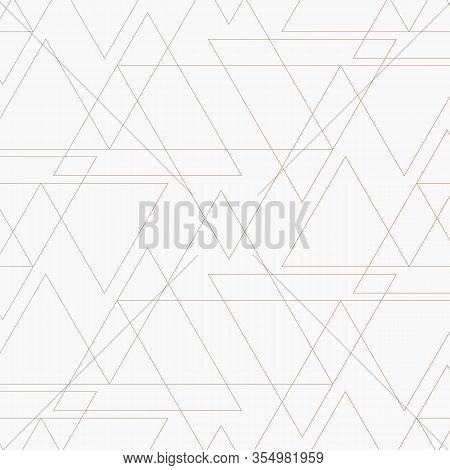 Geometric Vector Pattern, Repeating Thin Line Triangle Shape With Gradient Affect.  Pattern Is Clean