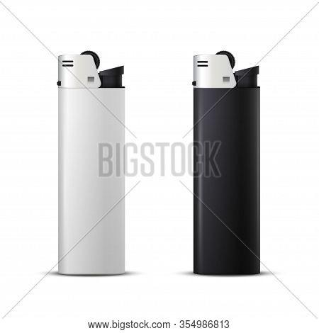 Black And White Disposable Plastic Butane Lighter Mockups
