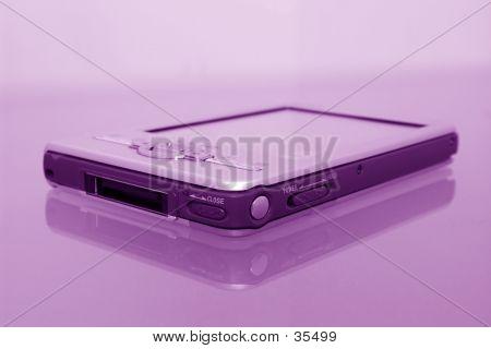 Palmtop Organizer PDA In Grape Tones