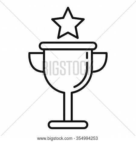 Smm Gold Cup Icon. Outline Smm Gold Cup Vector Icon For Web Design Isolated On White Background