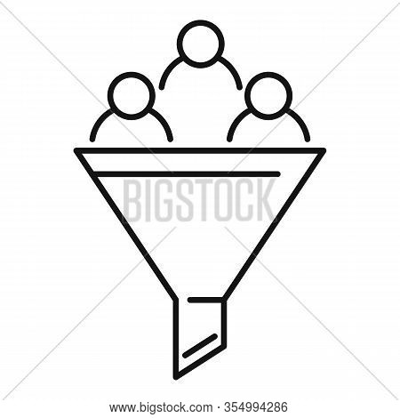 Smm Funnel Icon. Outline Smm Funnel Vector Icon For Web Design Isolated On White Background