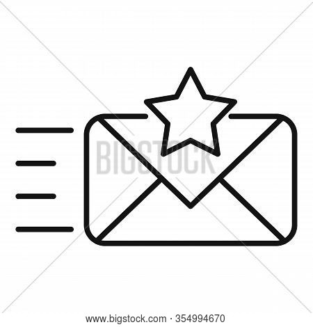Send Smm Mail Icon. Outline Send Smm Mail Vector Icon For Web Design Isolated On White Background