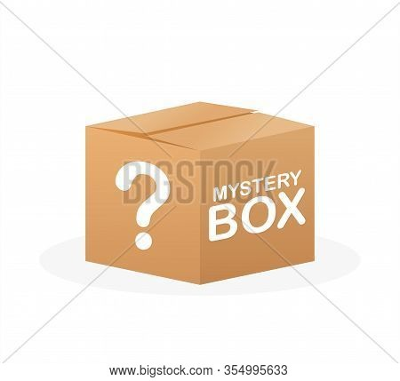 Mystery Box. Packaging For Concept Design. Surprise Present. Package Design. Help Symbol. Question M