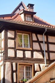 A Glimpse Of The Typical Architecture Of Alsace