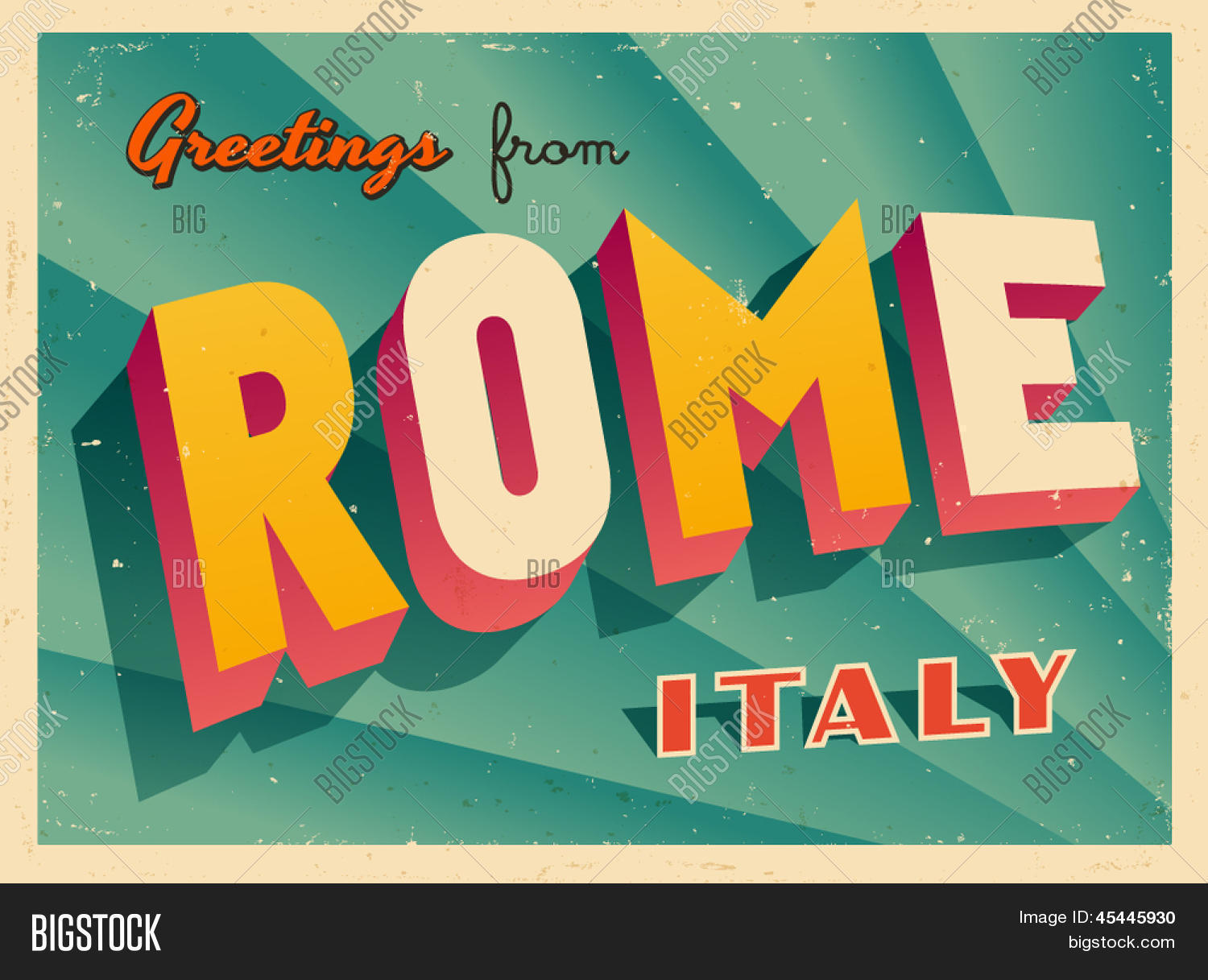 Vintage Touristic Vector Photo Free Trial Bigstock