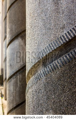 Spiral Pattern Concrete Columns