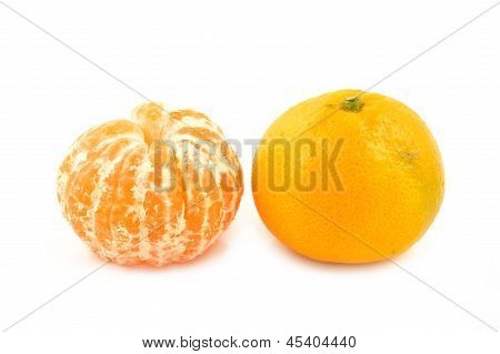 Mandarin Orange On A White Background