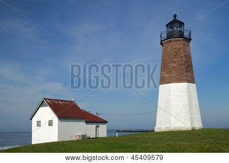 The Point Judith Light On The Rhode Island Coast