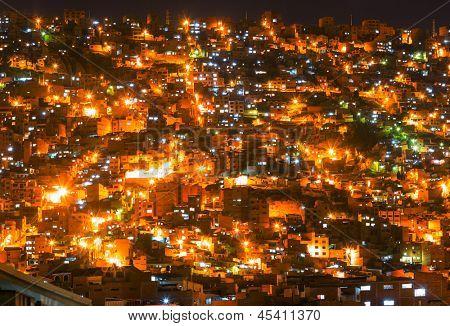 La Paz at dark