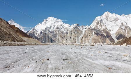 Broad Peak And Vigne Glacier, Karakorum, Pakistan