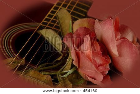 Guitar Rose Closeup