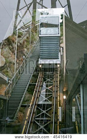 Funicular Railway In Porto, Portugal