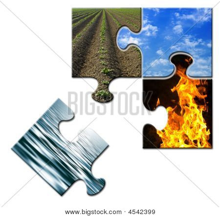 Four Elements Puzzle Water Apart