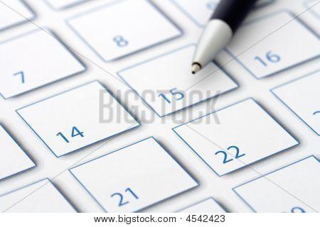 Calendar Pen Blue