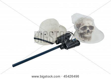 Pith Helmet Binoculars Net Skull