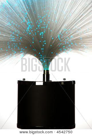 Fiber Glass Lamp Blue