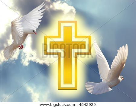 Doves With Cross