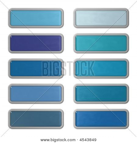 Ten Shiny Editable Webbuttons Of Glass And Steel