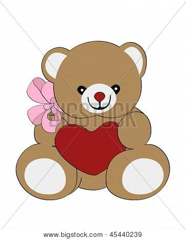 bear with heart and bow