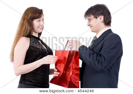 Couple In Love, Holiday Or Birthday Or Holiday