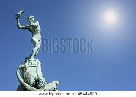 Statue Of Brabo, Antwerp, Belgium