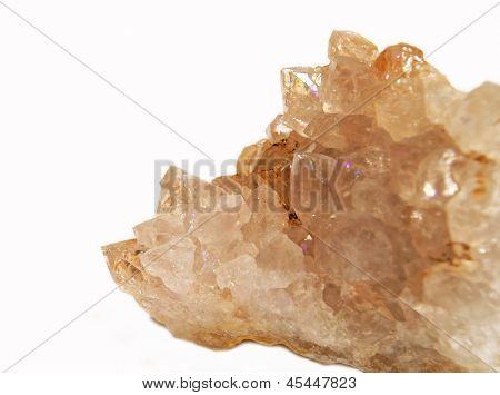 Anandalite (Rainbow Quartz) Cluster