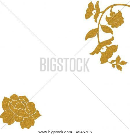 Gold Roses Background