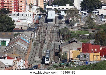 Train Station In Algeciras, Spain