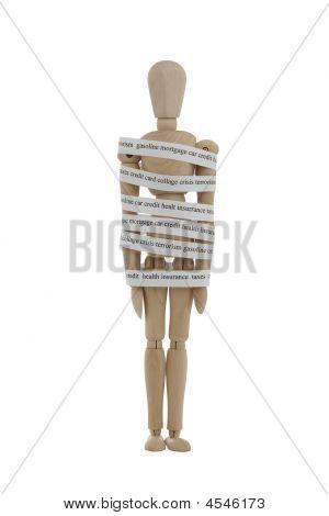Wooden Man Inmobile