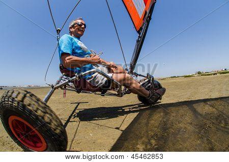 Francisco Costa On A Landing Kite
