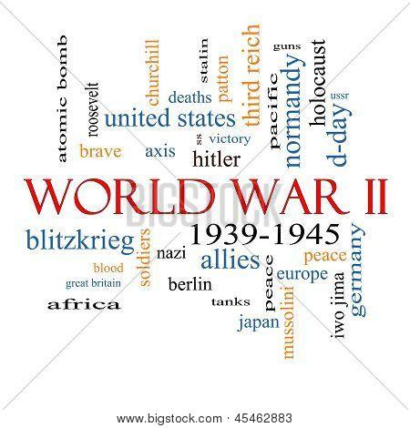 World War Ii Word Cloud Concept