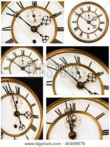Old Clock Face Six Views